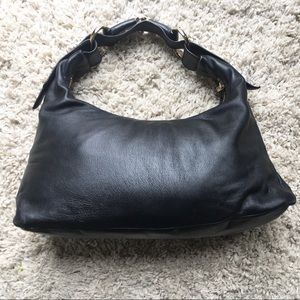 Gucci Horsebit Hobo Medium Black Leather Bag